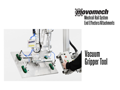Movomech™ Vacuum Gripper Tooling/Attachment. Contact a Thomas Conveyor ergonomic engineer to find out which end effectors would provide the optimal solution to your ergonomic lifting application.