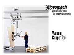 Movomech™ Panel Gripper Tooling/Attachment. Contact a Thomas Conveyor ergonomic engineer to find out which end effectors would provide the optimal solution to your ergonomic lifting application.