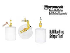 Movomech™ Roll Handling Gripper Tooling/Attachment. Contact a Thomas Conveyor ergonomic engineer to find out which end effectors would provide the optimal solution to your ergonomic lifting application.