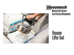 Movomech™ Vacuum Lifter Gripper Tooling/Attachment. Contact a Thomas Conveyor ergonomic engineer to find out which end effectors would provide the optimal solution to your ergonomic lifting application.
