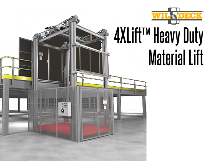 4 Post Heavy Duty Material Lift : The new standard for heavy duty elevated lifting. This unit can handle up to 30,000 lbs.