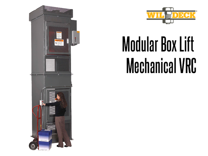 The Modular Box Lift allows users to move parts, boxes, totes and carriers.