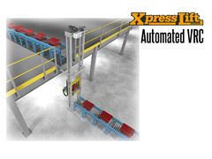 The XpressLift™ VRC integrates high speed vertical lifting into your automated conveyor system.  It can help to achieve  increased process efficiency through the automated vertical transfer of materials between production conveyor levels.