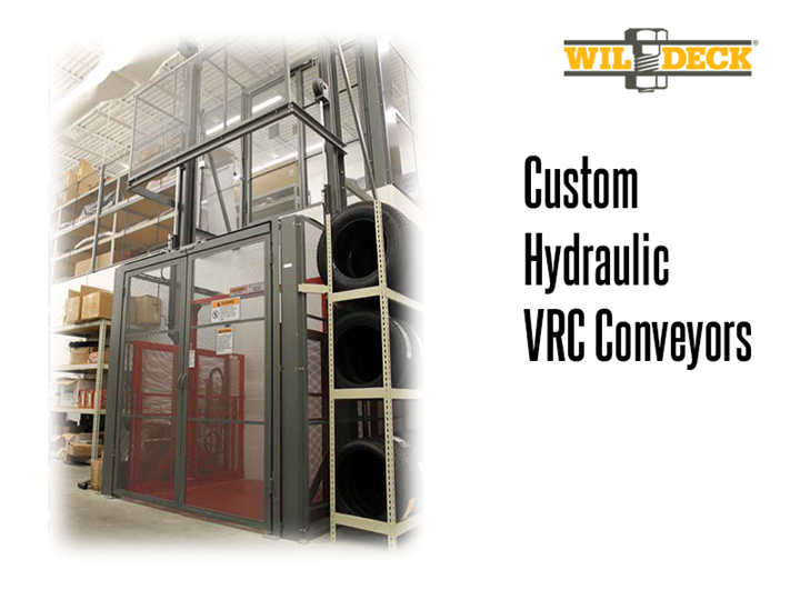 Thomas Conveyor & Equipment is available to provide custom hydraulic VRC solutions. Modular hydraulic lifts allow the user substantial amounts of lifting power at competitive prices.  They are best suited for single level (base plus one) lifting at average cycle rates.