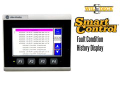 The SmartControl PLC stores and displays visual records of past fault conditions, eliminating guesswork when diagnosing and troubleshooting the VRC lift.