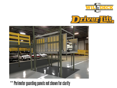 The DriverLift™ is a rideable vehicle lift that has been designed for safe and efficient transfer of vehicles between levels. No more climbing stairs to catch up with your car on a material-only lift.