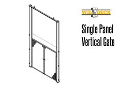 Single Panel Vertical Gate, VRC Carriage Gate