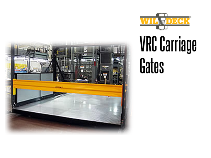 Safety gates come in a wide variety of configurations and are designed to maximize safety and performance.  VRC gates feature both floor level entrance gates and carriage mounted gates.  CargoLok™ Gates are designed to secure heavy carts or rolling loads during transport.
