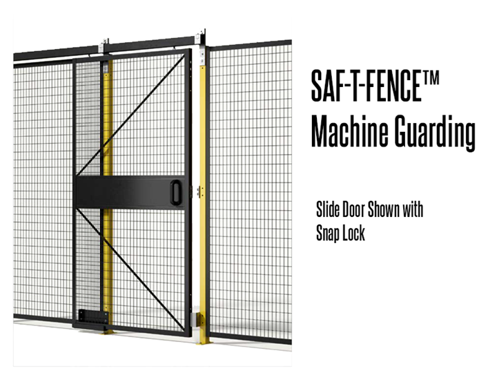 Saf-T-Fence Machine Guarding is a barrier used to keep employees clear of an area for safety, security, privacy, or to simply keep the work area looking clean and organized.