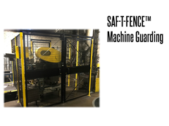 "The Saf-T-Fence Guarding system is available in three different heights 5'3"", 7' and 8'"