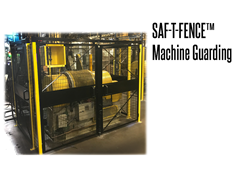 Saf-T-Fence Machine Guarding is a modular steel barrier used to keep employees clear of an area for safety, security, privacy, or to simply keep the work area looking clean and organized.