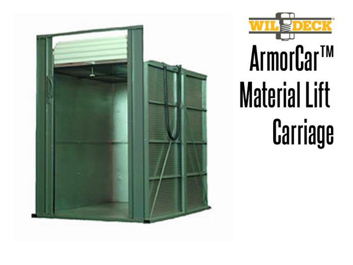 ArmorCar™ carriages come with galvanized tread plate floors and walls, roll-up doors, and an expanded metal roof.