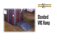 Using a standard ramp option, the width and length can vary according to the application, and the strong structural framing is painted or galvanized.