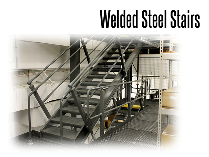 Thomas Conveyor partners with Wildeck™ to provide fully welded structural steel stairways made to fit existing, new, or freestanding mezzanine systems.