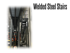 Welded structural steel stairs can be configured to fit existing mezzanine or safety platform systems.