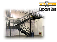 Knockdown Stair applications are used when lifting a one piece stair is not practical.  This can be a cost effective alternative to welded stair systems.
