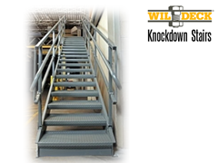 Knockdown Stairs are easily assembled on the job site and can be installed at nearly any facility, including areas where space is limited.