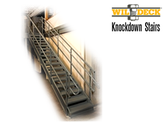 Knockdown stairs are ideal for many industrial applications.