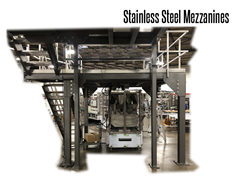 Stainless Steel Mezzanines are ideal for applications in the food industry, where cleanliness and corrosion resistance are of high importance.