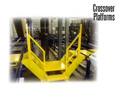 Conveyor crossovers allow staff to maneuver conveyors and other hazards in the workplace.
