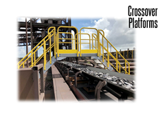 Platform structures are made of highly durable steel.