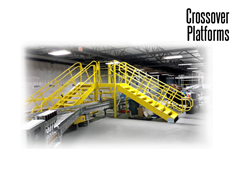 Standard Conveyor Crossovers provide convenient access both inside and outside.