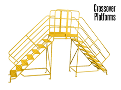 Standard Stair Conveyor Crossovers provide an economical way to provide access.