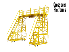 Stair Crossovers can come in U, Z and Reverse Z configurations.