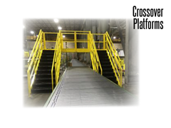 Conveyor Crossovers are designed in compliance with OSHA and Cal-OSHA regulations.