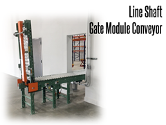 Conveyor gates provide a passageway for personnel, lift trucks, and other equipment.