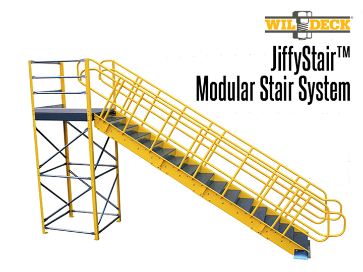JiffyStair™ systems can be installed nearly anywhere; whether you need access to mezzanine platforms, catwalks, safety platforms, racking or shelving, or other elevated structures, the modular JiffyStair™ can be designed or adjusted to meet your needs.