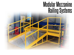 Steel safety handrails are also an ideal solution for in-plant offices, work platforms, balconies, stairs, mezzanines, catwalks, and equipment crossovers.