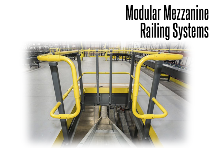 Modular Mezzanine Railing Systems are code-compliant handrail systems that are designed to be easily installed and are among the safest and most aesthetically pleasing systems available.
