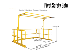 The Pivot Safety Gate for Work Platforms provides a unique, cut-to-fit design that can be adapted to your specific requirements.
