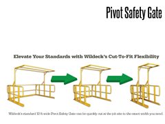 The Pivot Safety Gate can be cut to width onsite for a precise, custom fit.