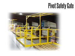 Pivot Safety Gate For Mezzanines can greatly reduce the potential for falls and other accidents associated with mezzanine loading areas. When one side is raised, the other side closes, which allows a quick, convenient and safe access by forklifts and facility personnel