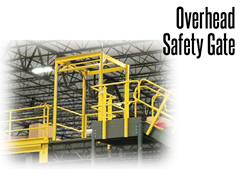 The gate makes it difficult for a worker to enter the gate when it is open and when pallets are being handled by stackers or lift trucks. When the interior (worker side) gate is open, the exterior gate is closed, and vice-versa.