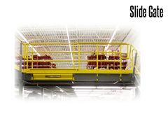 Industrial Slide Gates allow for safe and easy loading and unloading of equipment and product from mezzanines and other elevated storage areas.