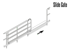 Slide gates come in manual or powered operation.