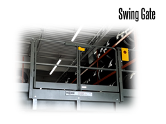 Swing Gates have a spring load option which returns the gates to a closed position when not in use.