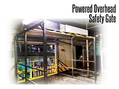 Ideal for use in many applications, Safety Gates are the optimal solution for securing pallet drop areas in a doorway, as gates close flush with the ledge and can operate independently of overhead doors while providing fall protection.