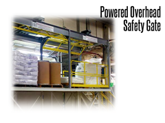 Powered Overhead Safety Gates meet or exceed OSHA, IBC and ANSI standards.