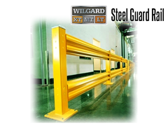 uard Rail protects employees around the workplace from injuries and accidents caused by moving vehicles. Designed to absorb the impact of a forklift, sweeper, other in-plant vehicles, guard rails protect your assets and staff.
