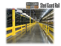 Tests confirm that properly installed Wilgard™ guard rail will absorb severe impacts from forklifts or other equipment...up to a 13,000 lb. load impact traveling at 4 mph, without failure.