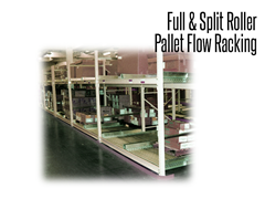 All full and split-roller pallet flow rack designs are engineered and built using heavy-duty bearings, axles, tube, and side channels. Both are designed with maintenance in mind, so if damage occurs, replacement components can easily be installed.