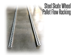 Steel skate wheels are made to withstand the rigors of warehouse environments.