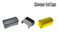 Conveyor Guard End Caps are a flexible rectangular cap that can be used to protect the employees from the sharp edges at the end of a rail on the conveyor line.