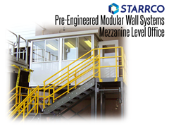 Modular wall systems provide a secure, comfortable working environment perfect for shipping and receiving office modules.