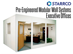 From modular floor-supervisor offices to portable modular plant foreman's offices, Starrco has a room divider system that can be constructed to fit all types of office requirements.