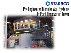 Starrco Modular Office System can add a computer room enclosure, conference rooms, or in-plant office to your facility